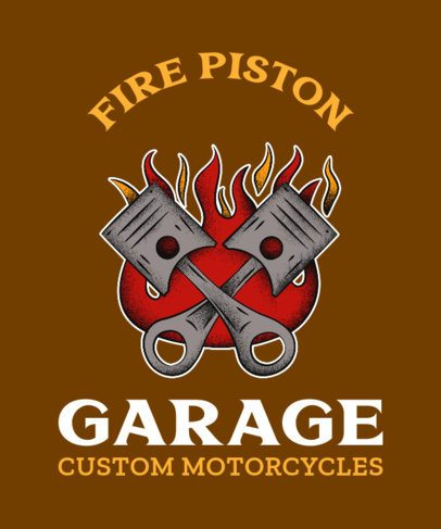 Biker Club T-Shirt Creator with a Pistons Graphic 2132h