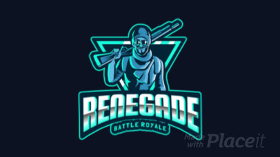 Animated Gaming Logo Maker for a Battle Royale Squad Inspired on PUBG 383f
