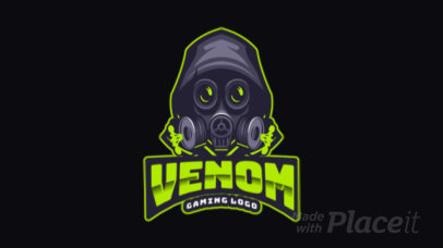 Animated Gaming Logo Maker Featuring a Mystery Masked Character 383g 2287