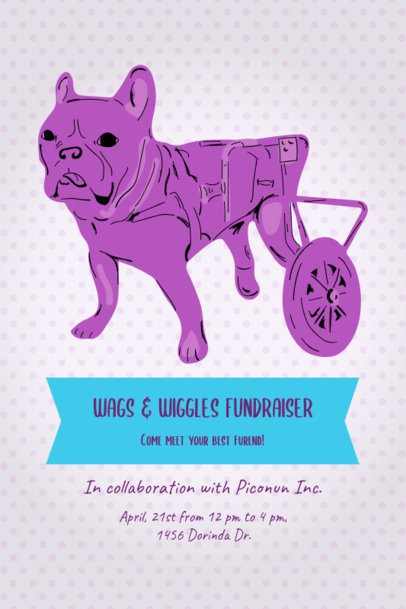 Flyer Template Featuring a Dog on Wheels 2151b