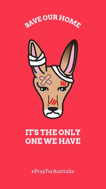 Instagram Story Maker for an Environmental Care Awareness with an Australian Kangaroo Clipart 1044q 2163