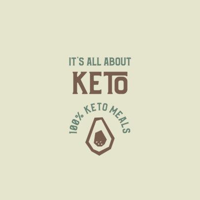Keto Restaurant Logo Maker with an Avocado Icon 2842c