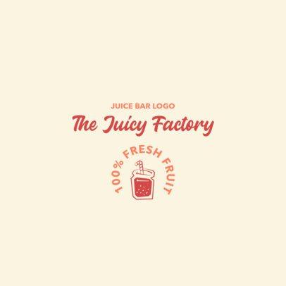 Juice Bar Logo Maker with a Simple Illustration 2842d