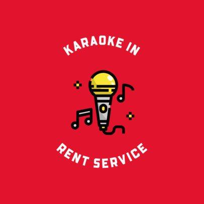 Online Logo Generator for Karaoke Machine Rental Companies 610c-el1