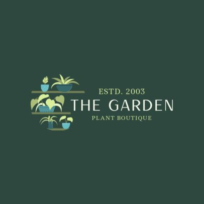 Logo Generator for a Plant Boutique 2839a