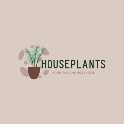 Logo Template for a House Plants Shop 2839d