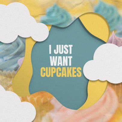 Cupcake-Themed Instagram Post Maker 308a