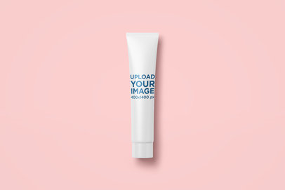 Minimal Cosmetic Tube Mockup Featuring a Colored Background 2405-el1