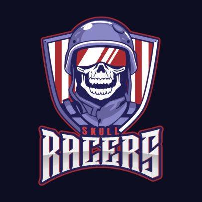 Gaming Logo Maker Featuring a Skull Racer Illustration 1877k-2883