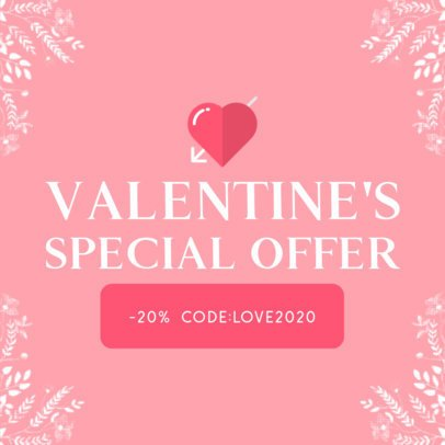 Banner Maker for a Special Valentine's Day Offer 611a-el1