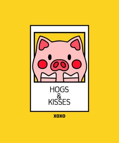 T-Shirt Design Generator for Valentine's Day Featuring a Piggy Illustration 209a-el1