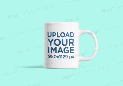 Simple Coffee Mug Mockup Featuring a Customizable Background 2376-el1