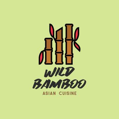Logo Maker for an Asian Vegan Restaurant 599b-el1