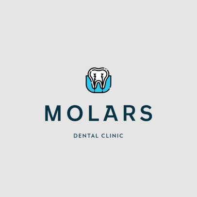 Dental Clinic Logo Template with a Minimal Style 602a-el1
