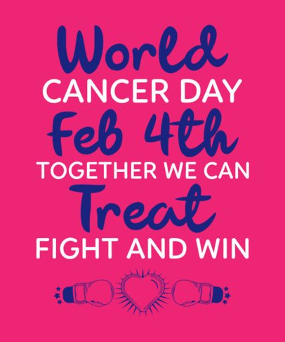 Quote T-Shirt Design Maker with a World Cancer Day Theme 2165