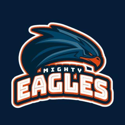 Cricket Logo Generator with an Eagle Mascot 1651j-2881
