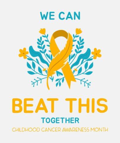 T-Shirt Design Template Childhood Cancer Awareness 2166g