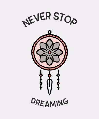 T-Shirt Design Generator Featuring a Dreamcatcher Graphic 601b-el1