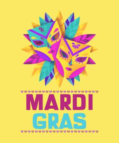 T-Shirt Design Maker for a Mardi Gras Celebration 2169g