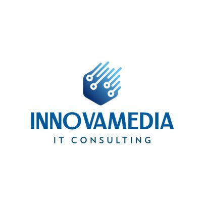 IT Consulting Logo Template with Abstract Graphics 597b-el1
