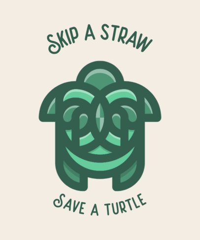 T-Shirt Design Maker Featuring a Sea Turtle Icon 601c-el1