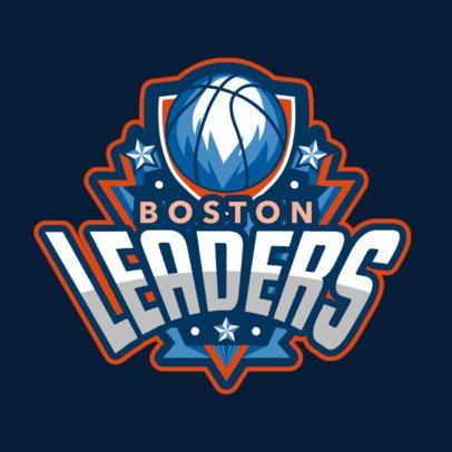 Cool Logo Template for a Basketball Team 336o-2881