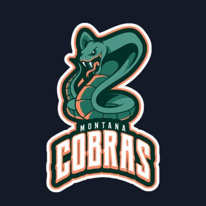 Mascot Logo Template Featuring an Angry Cobra Illustration 21nn-2883
