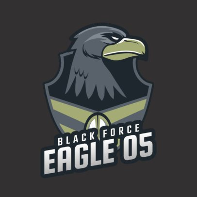 Logo Creator with an Eagle Graphic Inspired in Battle Royale 1847s-2881