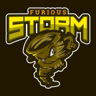 Illustrated Logo Maker Featuring a Furious Tornado 1619g-2888