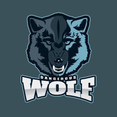 Sports Logo Maker Featuring a Fierce Wolfs Face 2883p-2880