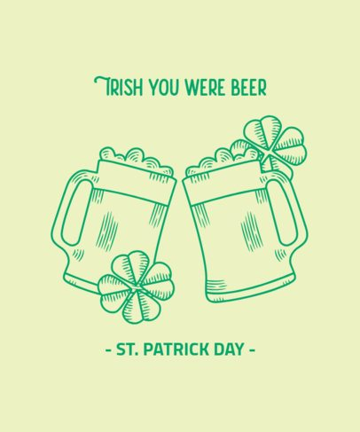 St Patricks Day T-Shirt Design Maker Featuring Clinking Beer Jars 2168c