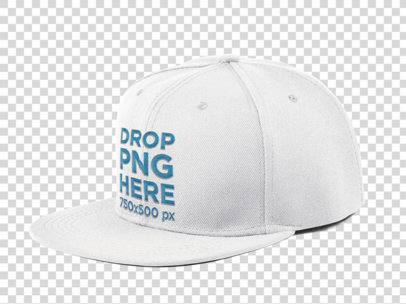 Side View of a Snapback Hat PNG Mockup a11706