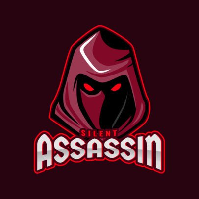 Gaming Logo Generator Featuring a Hooded Assassin Illustration 1877j-2889