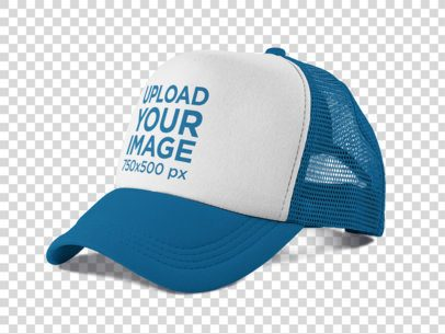 Side View of a Trucker Hat Mockup 11708a