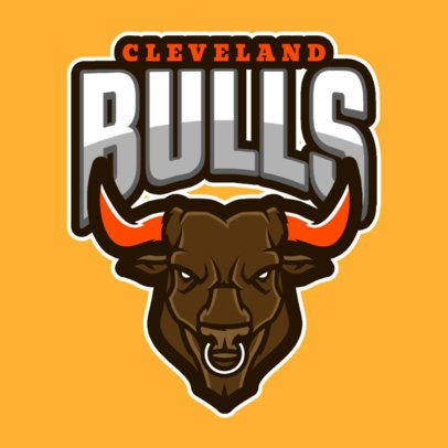 Mascot Logo Creator with a Bull Graphic a120y-2888