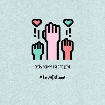 Placeit - LGBTQ Instagram Post Template with Equal Love Quotes