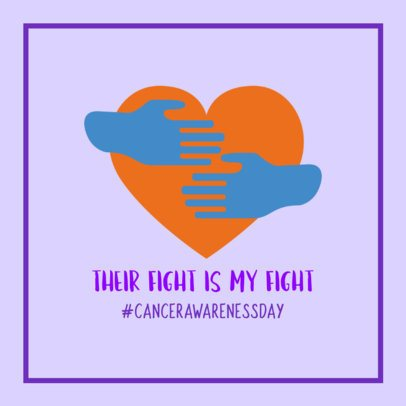 Cancer Awareness Day Facebook Post Generator Featuring a Supportive Quote 2026p 2175