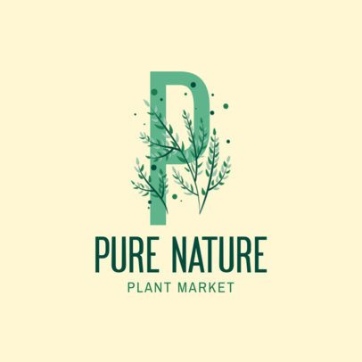 Botanical Monogram Logo Generator for Plant Markets 2840g