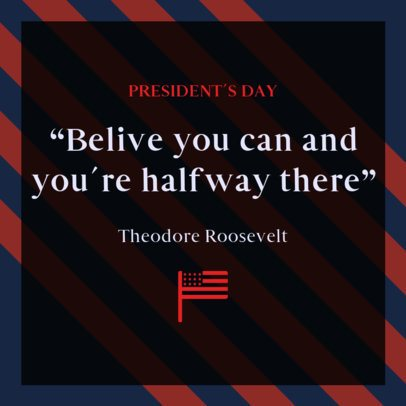 Instagram Post Maker Featuring Presidents Day Quotes 2201