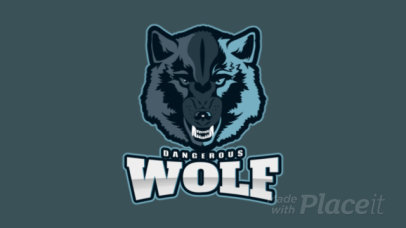 Sports Logo Maker Featuring an Animated Fierce Wolfs Face 2883p-2880