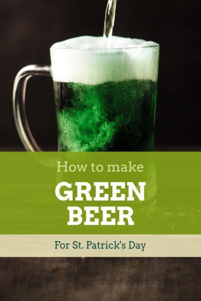 Pinterest Pin Maker for a St. Patrick's Day Recipe 1885j-2182
