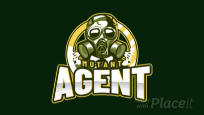 Animated Gaming Logo Creator Featuring a Mutant Agent 2651i-2893