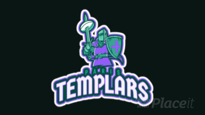 Animated Rugby Logo Maker Featuring a Templar Knight 2613cc-2890