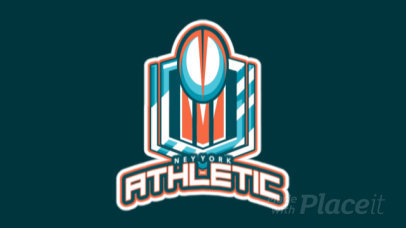 Animated Sports Logo Maker Featuring a Modern Rugby Cup 1616k-2890