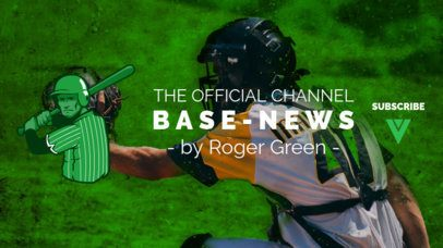 YouTube Banner Maker for a Baseball News Channel 2214