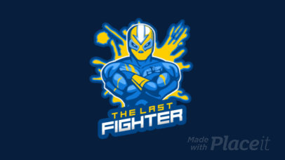Animated Logo Maker Featuring a Masked Wrestling Fighter 1747bb-2882