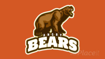 Animated Logo Template for a Sports Team with an Angry Bear Graphic 21ff-2882