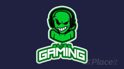 Animated Gaming Logo Creator Featuring an Alien with Headphones 523x-2882