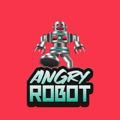 Gaming Logo Maker Featuring an Angry Robot Inspired by Roblox 2878d