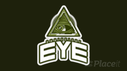 Mysterious Logo Template with an Animated Omniscient Eye Graphic 523s-2887